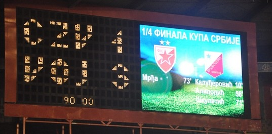 Crvena zvezda - Vojvodina 1-3