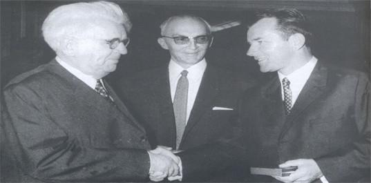 Dr Kosta Hadži i Vujadin Boškov 1966