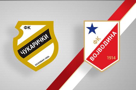 Grbovi FK Čukarički i FK Vojvodina