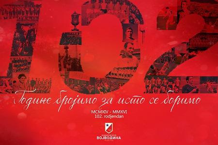 102. rođendan FK Vojvodina