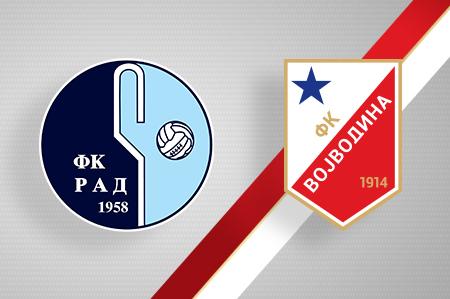 Grbovi FK Rad i FK Vojvodina