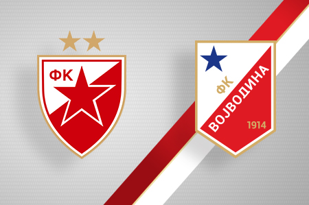 Grbovi FK Crvena zvezda i FK Vojvodina
