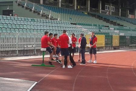 Milovan Rajevac i fudbaleri Vojvodine