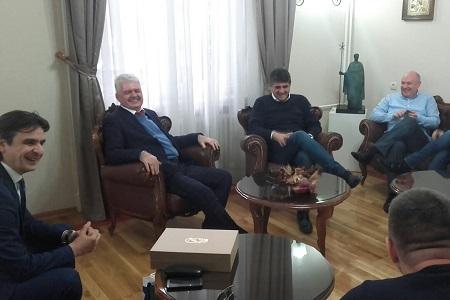 Delegacija FK Vojvodina u gostima kod gradonačelnika Niša
