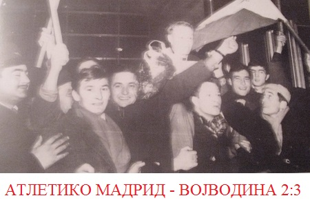 Fudbaleri Vojvodine posle pobede nad Atletikom u Madridu 1966