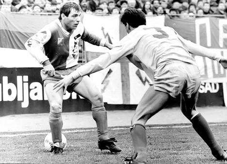 Miloš Šestić na meču protiv Dinama 1989.