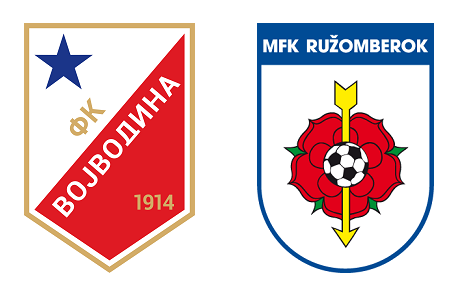 Grbovi FK Vojvodina i FK Ružomberok