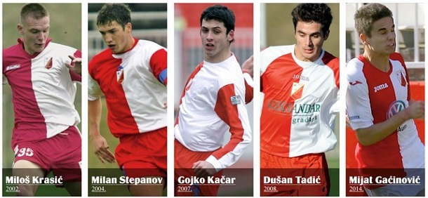 Miloš Krasić, Milan Stepanov, Gojko Kačar, Dušan Tadić i Mijat Gaćinović