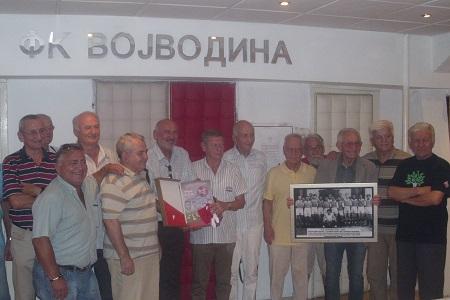 Predstavnici Jevrejske opštine i Sekcije veterana FK Vojvodina
