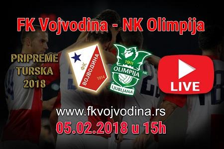Plakat za prenos meča Vojvodina - Olimpija