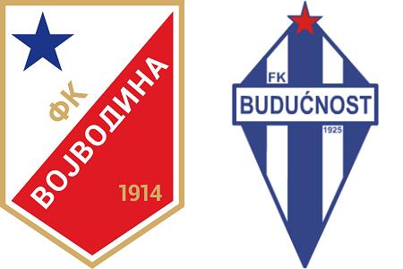 Grbovi FK Vojvodina i FK Budućnost