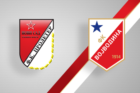 Grbovi FK Proleter i FK Vojvodina