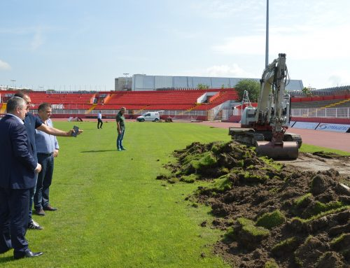 New grass set at Karađorđe has started