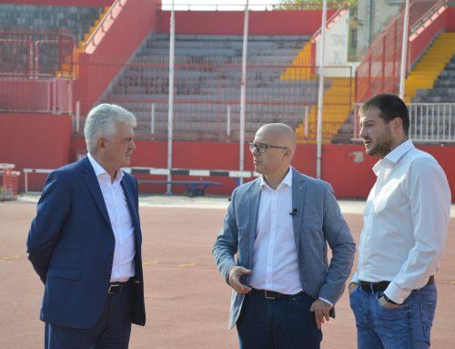 Mayor Vučević visited Karađorđe stadium