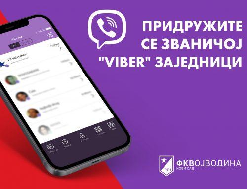 """Pridružite se prvoj zvaničnoj """"Viber"""" zajednici FK Vojvodina!"""