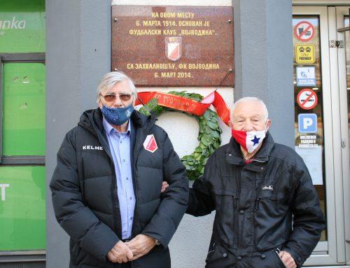 Postavljen venac na mestu osnivanja FK Vojvodina